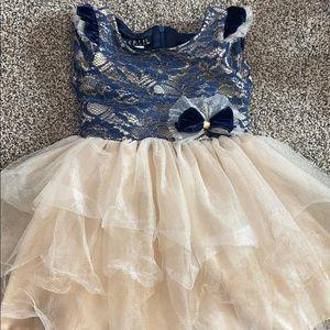 Biscotti Navy Lace Dress